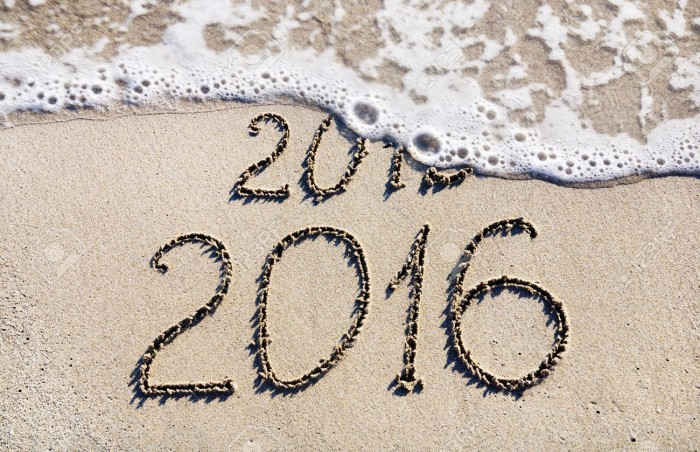 Happy New Year 2016 replace 2015