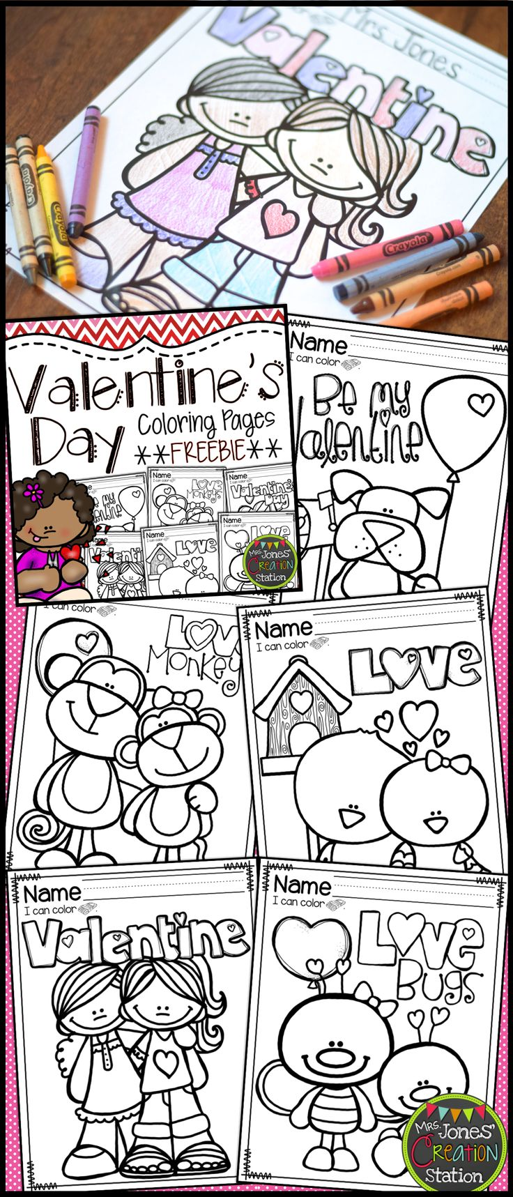 Valentine's Day Toddler Coloring Pages