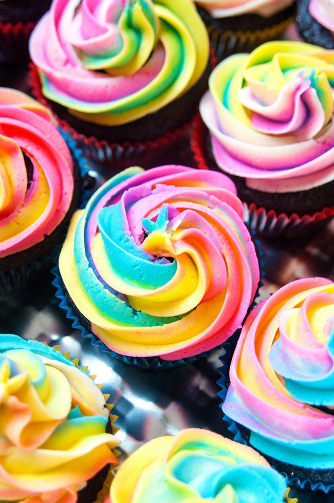 Rainbow Buttercream