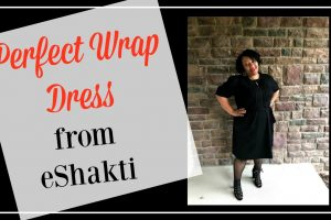 Perfect Wrap Dress from eShakti