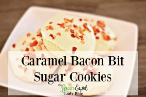 Caramel Bacon Bit Sugar Cookies