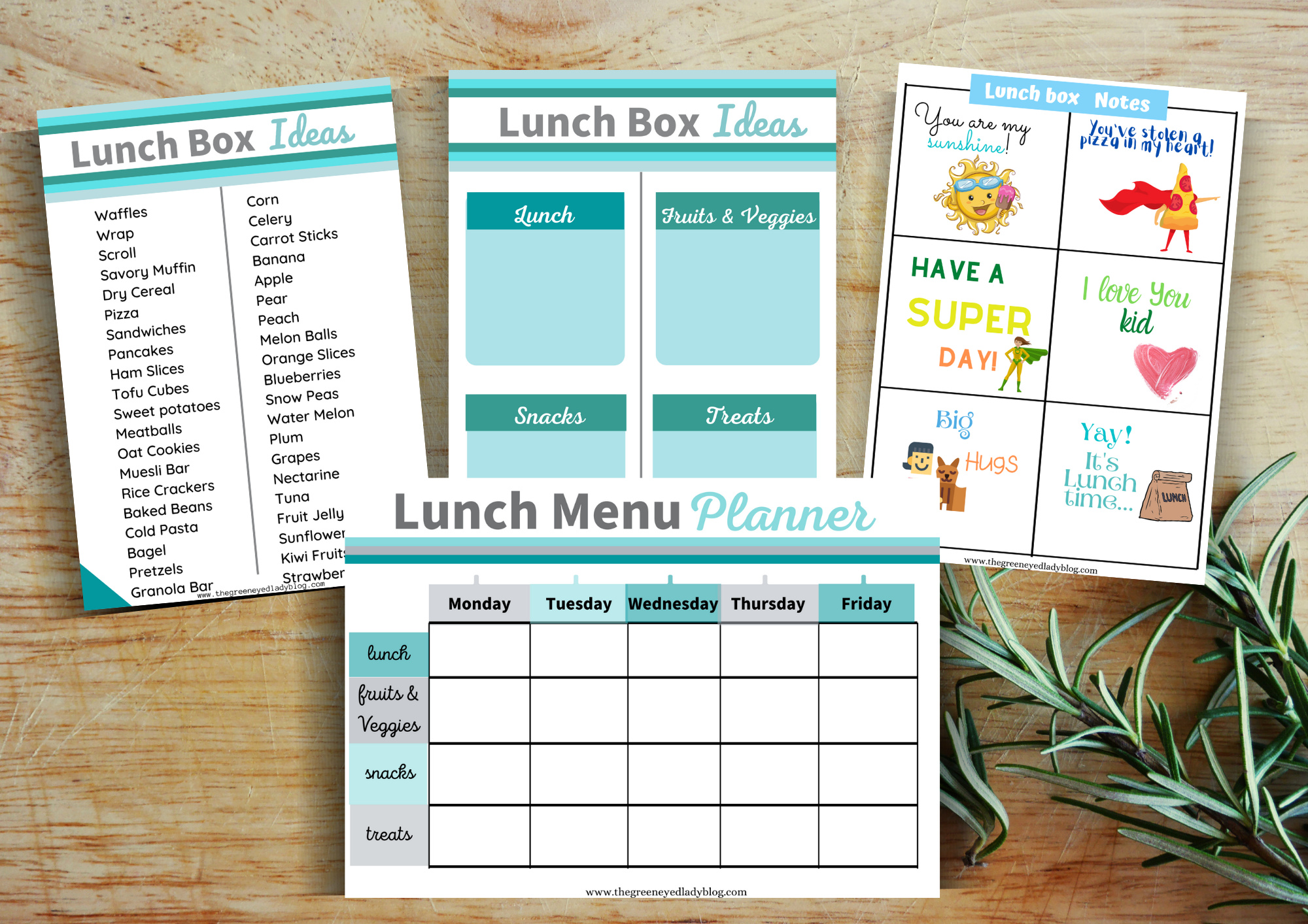 Lunch Menu-Blog