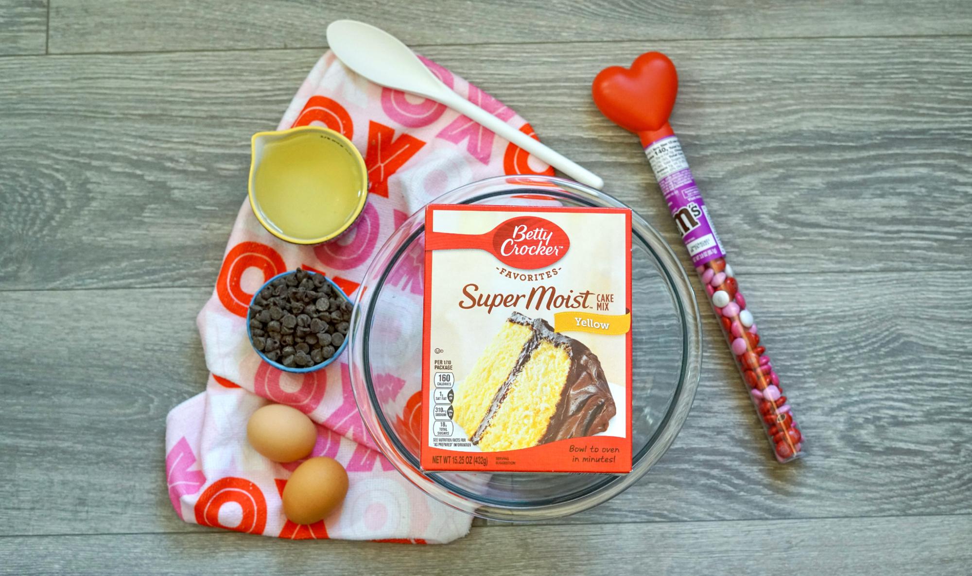 Valentines Day Cookie Bars Ingredients