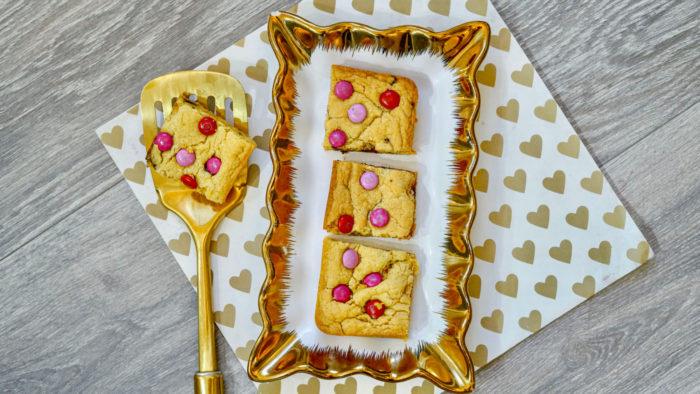 Valentines Day Cookie Bar