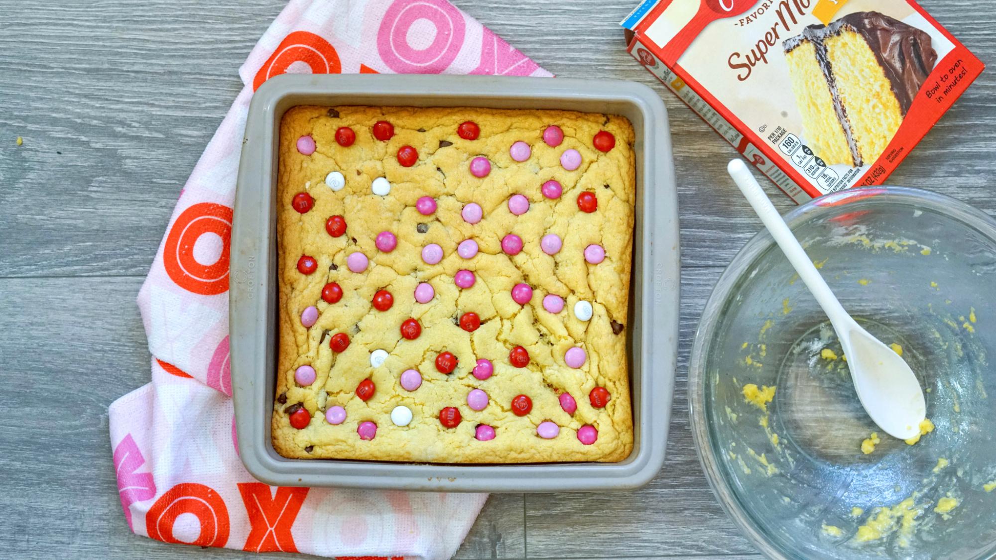 Valentines Cookie Bar Baking