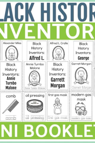 Black History Inventors-Mini Booklets