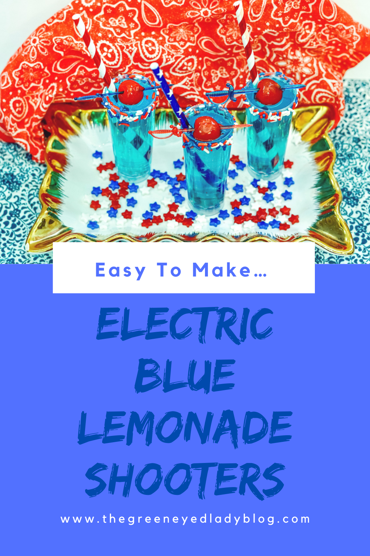 Electric Blue Lemonade Shooters