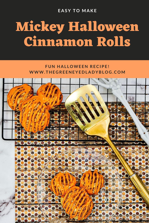 Mickey Halloween Cinnamon Rolls